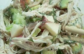 Receta de Ensalada de Pollo con Queso